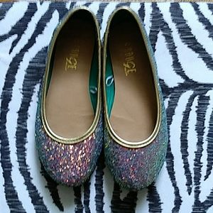 Muliti colored sparkle ballet flats